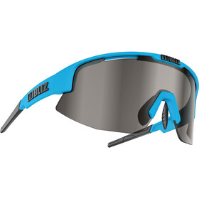 Bliz Matrix M12 Brille, shiny blue/smoke with silver mirror